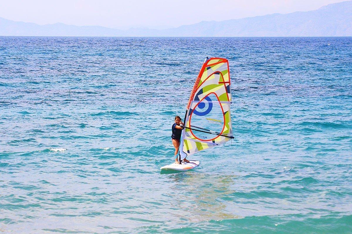 Nefeli testing her new sail