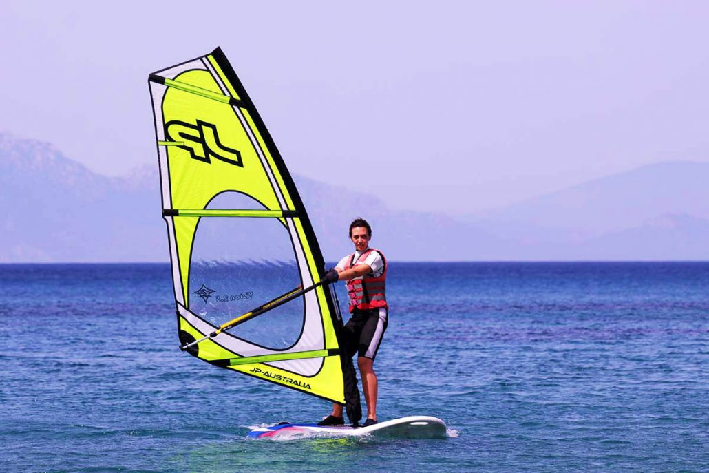 Windsurfing lessons Ixia Rhodes Greece