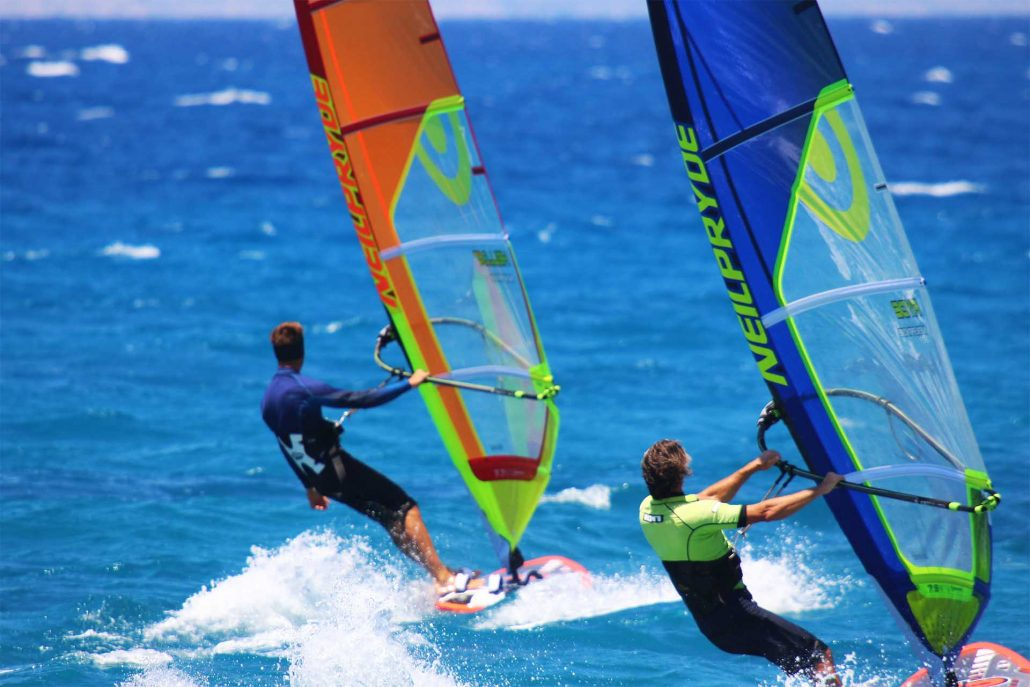 Windsurfing Ixia Rhodes Greece